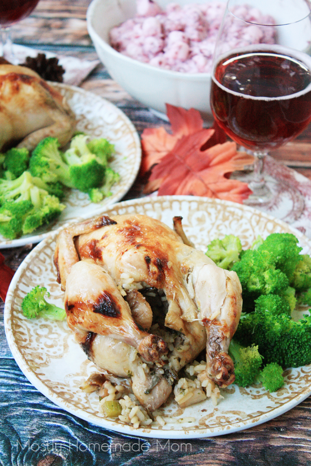 Cooking Cornish Hens with Wild Rice