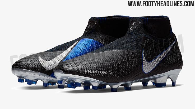 size 40 0308d abab1 Black / Blue / Silver Nike Phantom Vision 2018-2019 Boots ...