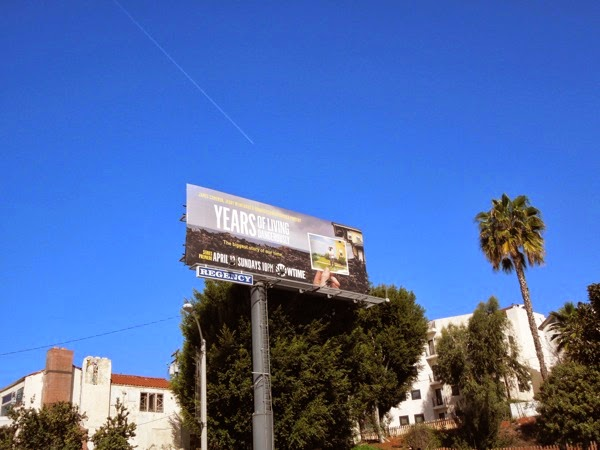Years of Living Dangerously Showtime billboard