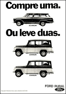 Ford Rural, brazilian advertising cars in the 70s; os anos 70; história da década de 70; Brazil in the 70s; propaganda carros anos 70; Oswaldo Hernandez;.
