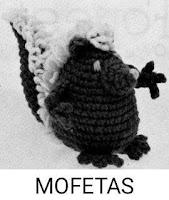 PATRONES MOFETAS AMIGURUMI