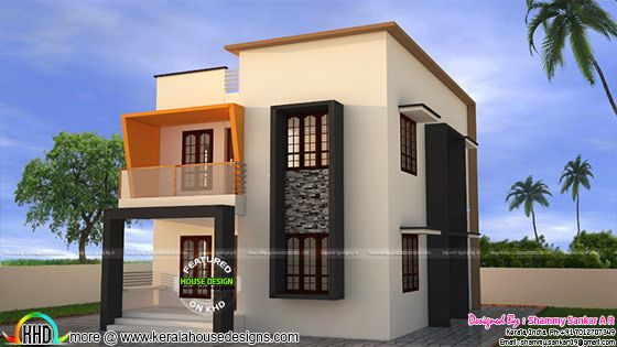 Simple contemporary style small double storied house