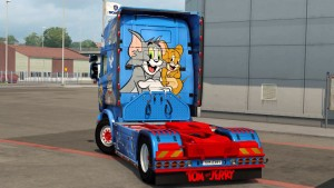 Scania RJL Tom and Jerry Skin Mod