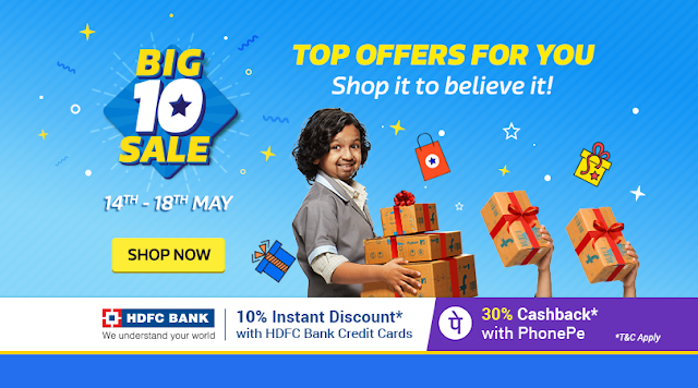 Big10 Sale [Day 3]: 10% Off on HDFC Credit Card | Get MMT Hotel Gift Cards on purchase of 2k & 90% Off sitewide!