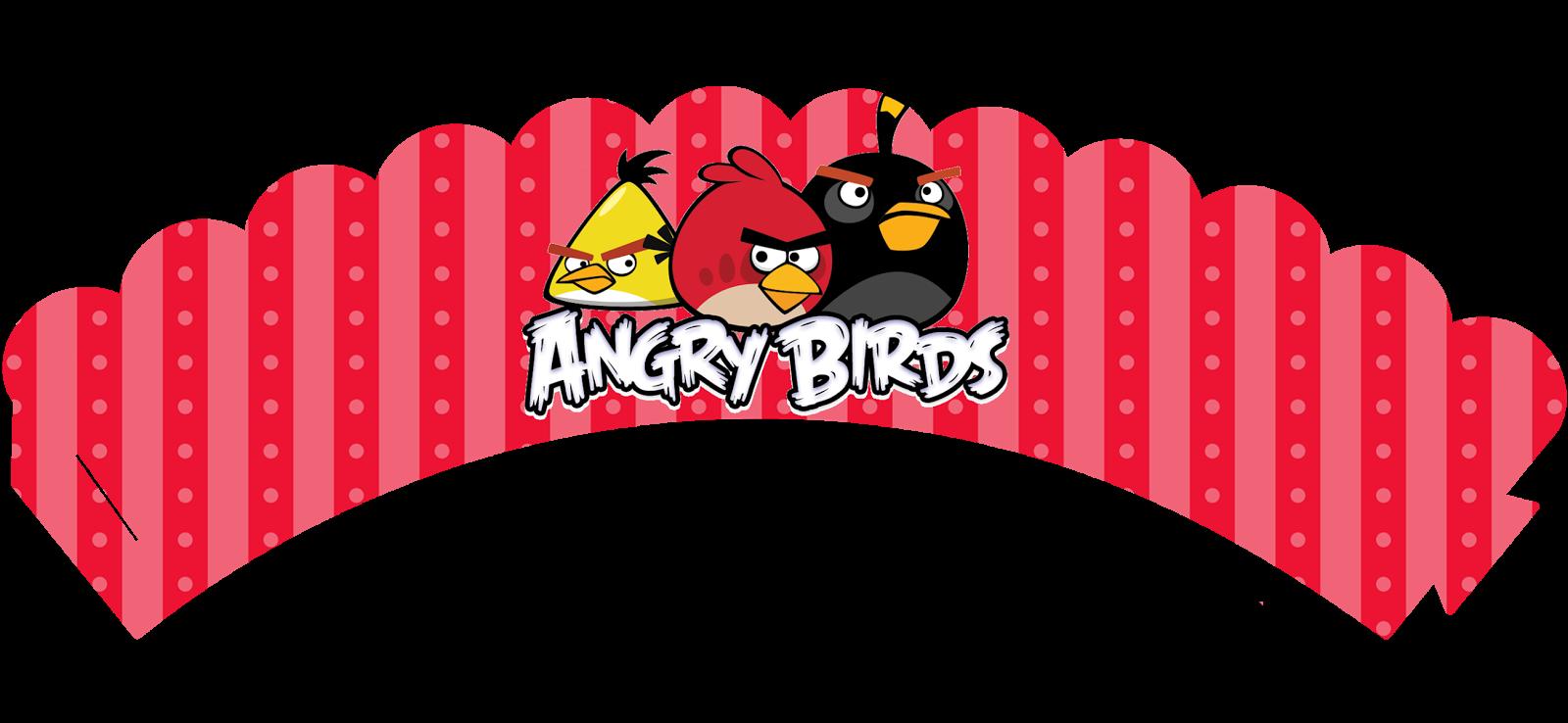 Wrappers para cupcakes de Cumpleaños de Angry Birds.