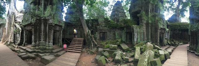 Ta Phrom - Angkor Wat (Camboya) panorámica