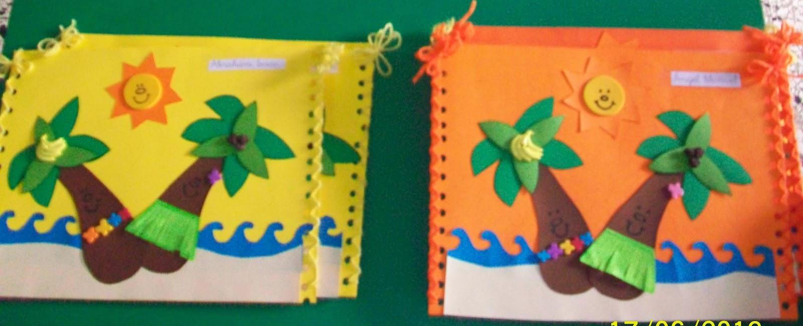 Manualidades carpetas escolares decoradas gu a de for Decoracion verano para jardin infantil