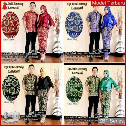 ZBT02709 Kebaya Batik Couple Lonceng Marimar Couple BMGShop