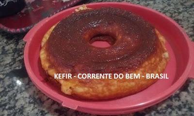 BOLO DE TAPIOCA COM IOGURTE DE KEFIR