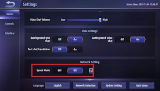 Aktifkan speed mode Mobile Legends