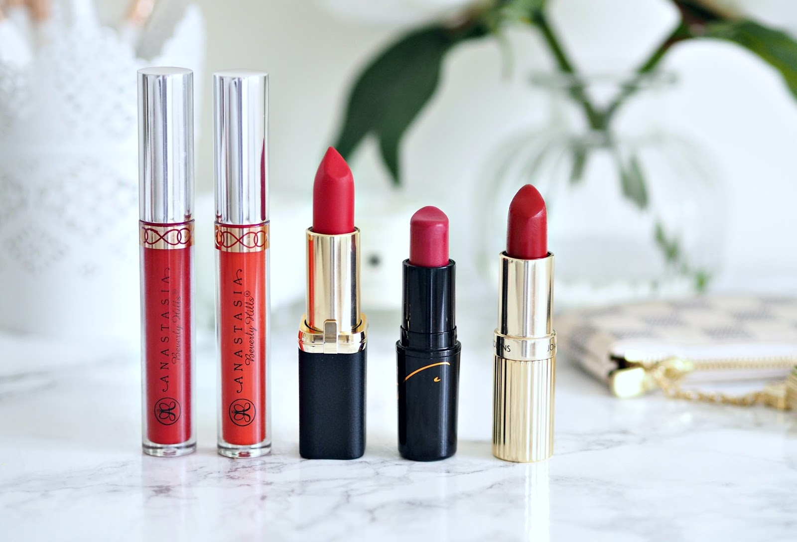 My 5 favourite red lipsticks including ABH, MAC, LOreal and Joan Collins