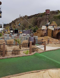 Pirates Cove Adventure Golf course in Shanklin, Isle of Wight. Photo by Dan Paynton, 31 March 2018
