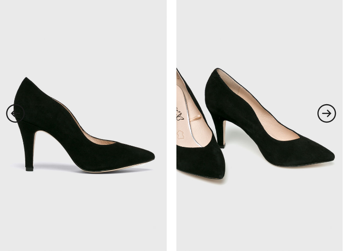 Caprice - Pantofi de ocazii negrei piele naturala de firma ieftini eleganti
