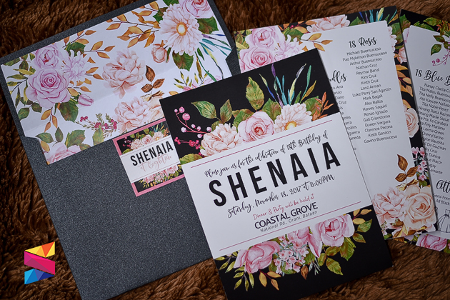 Black And Floral Debut Invitation Stunro Creativeworks