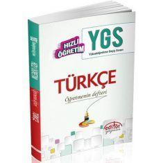 Editör Hızlı Öğretim YGS Türkçe Öğretmenin Defteri