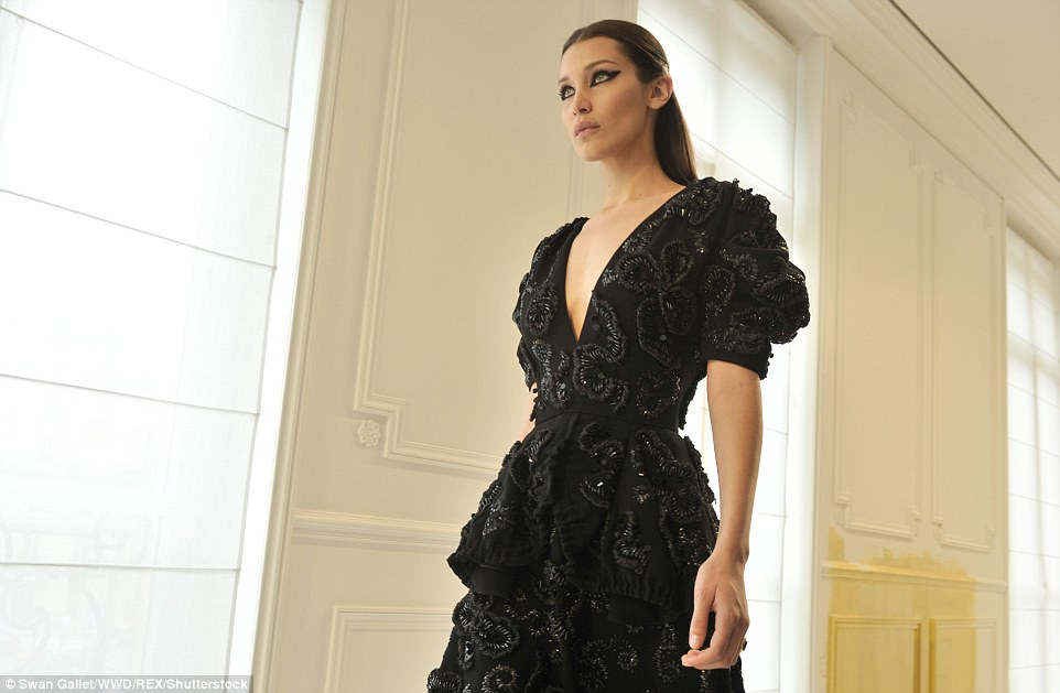 Bella Hadid is fierce on the Christian Dior Couture Runway in Paris