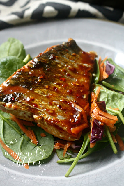 Gluten Free Honey Lime Grilled Salmon Salad Anyonita Nibbles