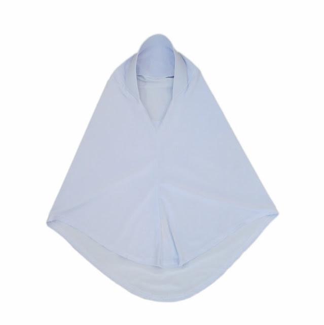 tudung natasha putih rekaan untuk pelajar sekolah perempuan