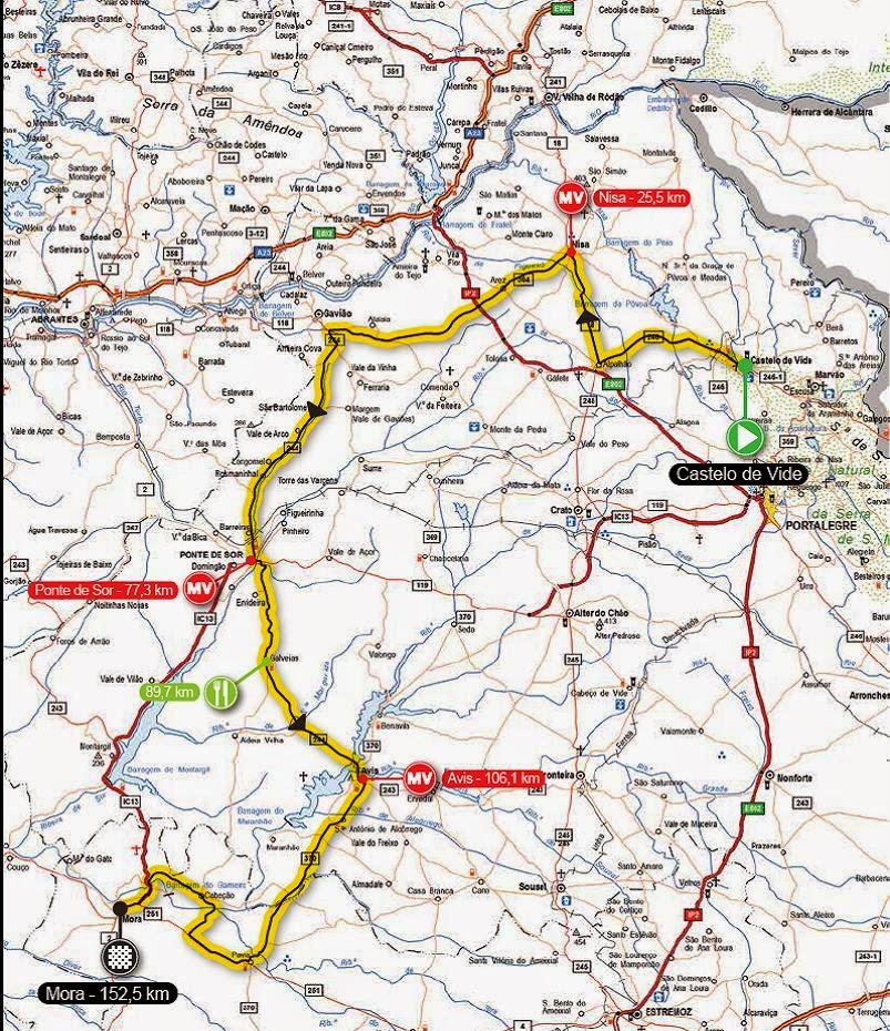 mapa das estradas do alentejo Jornal de Nisa: CICLISMO: 33ª Volta ao Alentejo passa no concelho  mapa das estradas do alentejo