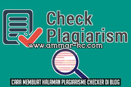 Cara Membuat Halaman Plagiarisme Checker Di Blog