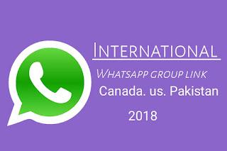 International Whatsapp Group Link 2018 Canada australia  pakistan london All Country