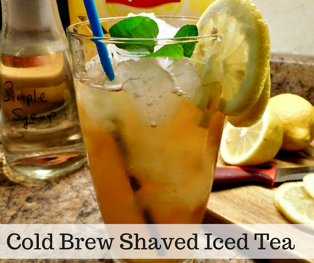 Shaved Iced Tea - Crush it with your blender!