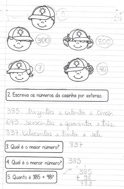 Scan0002 Caderninho de Matemática: Quanto vale? HABILIDADES BNCC (EF02MA01)  (EF02MA04)   (EF02MA06) (EF03MA01) (EF03MA02)