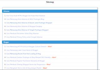 Sitemap Seo Fast Loading Ringan banget