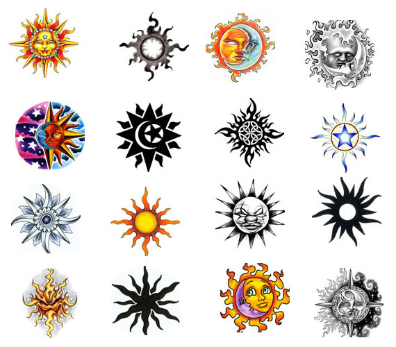 sun tattoo designs 3