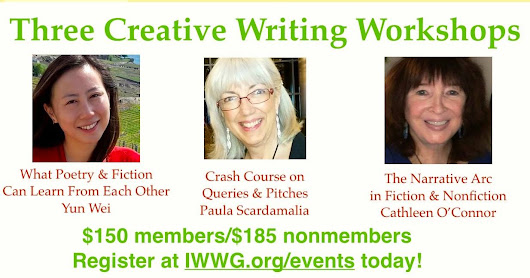 Writing Workshop at IWWG NYC Conference April 15th