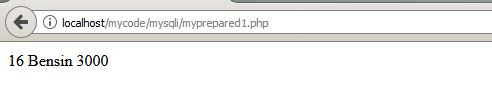 hasil eksekusi di browser