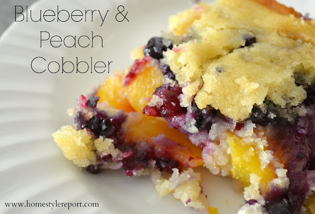 Easy Peach Cobbler Recipe Made With Cake Mix