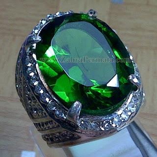 Cincin Batu Permata Green Tektite - ZP 950