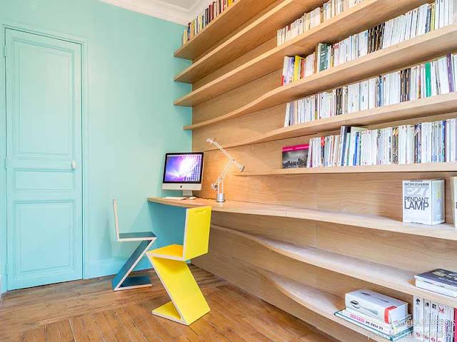 bibliothèque sur mesure en bois