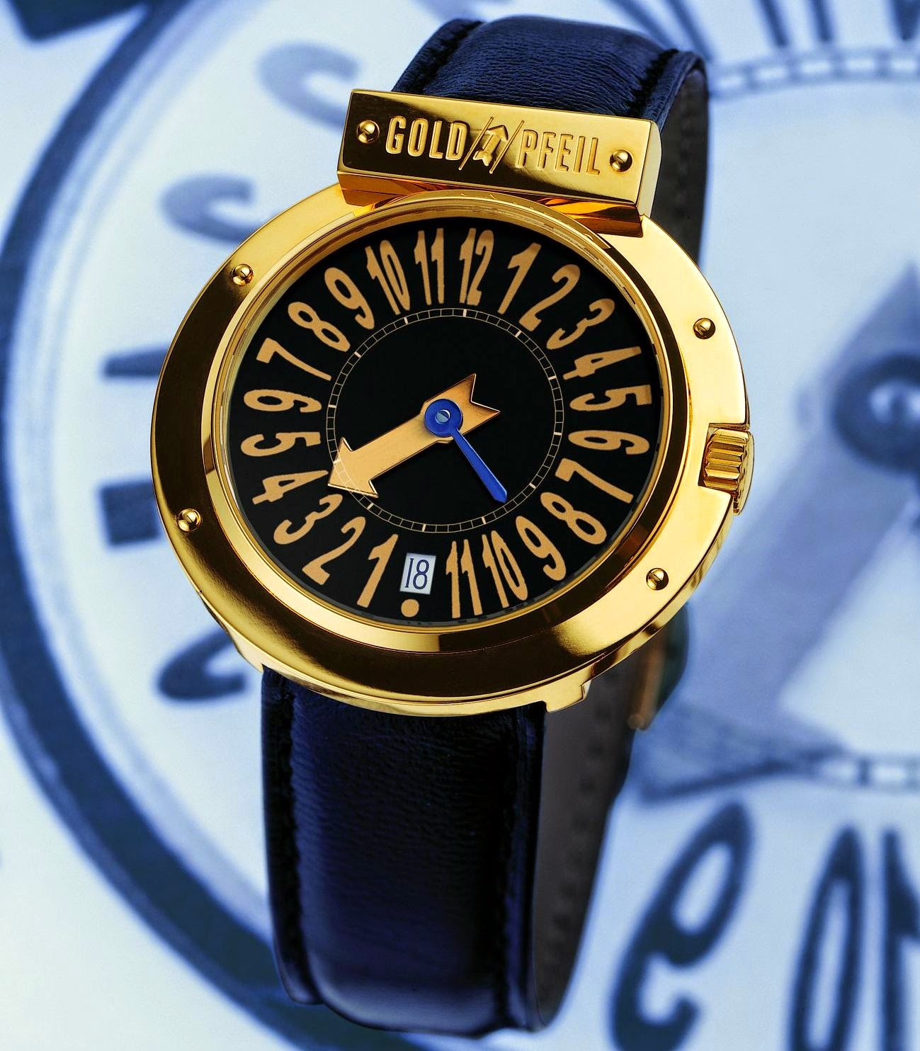 GOLDPFEIL GENEVE Pupitre Watch by Svend Andersen, Exclusive Collection