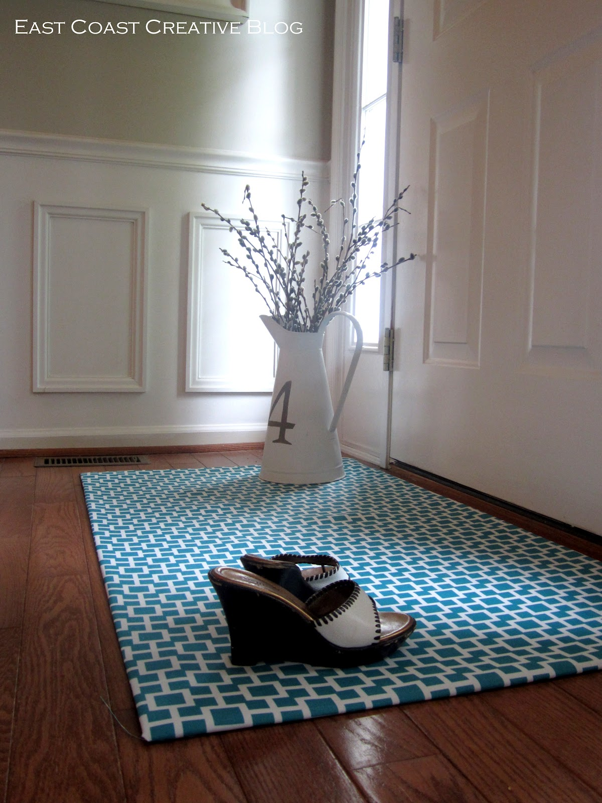 Diy Fabric Floor Cloth Floor Mat