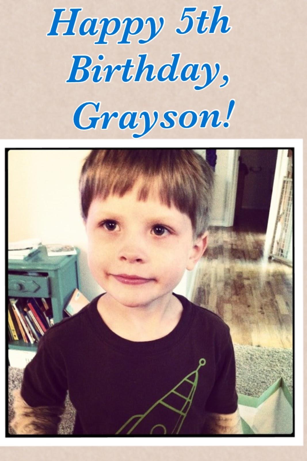 Our Family News: Happy 5th Birthday, Grayson