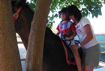 Terapia con el caballo Zardulan Fuente: Asociación Zardulan