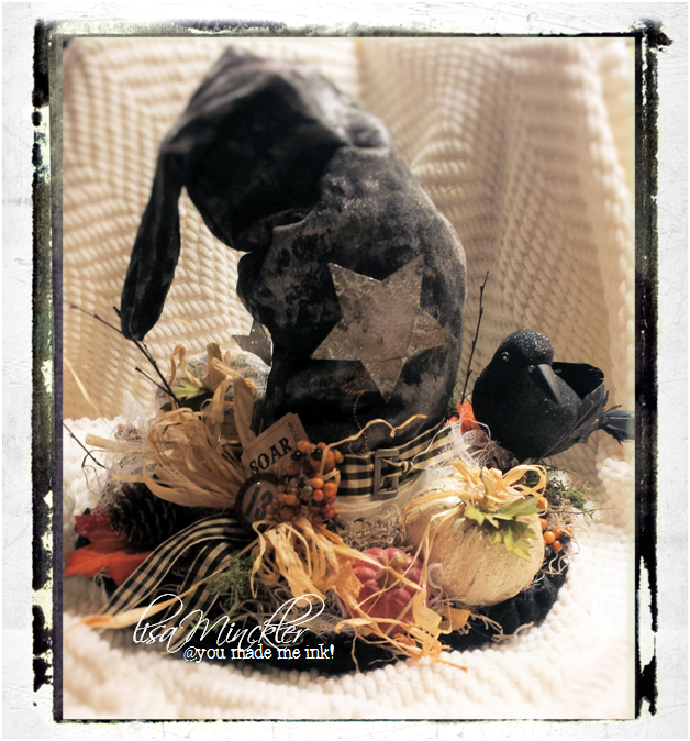 Recycled Halloween Decorations: You Made Me Ink!: DIY Recycled Jeans Halloween Centerpiece