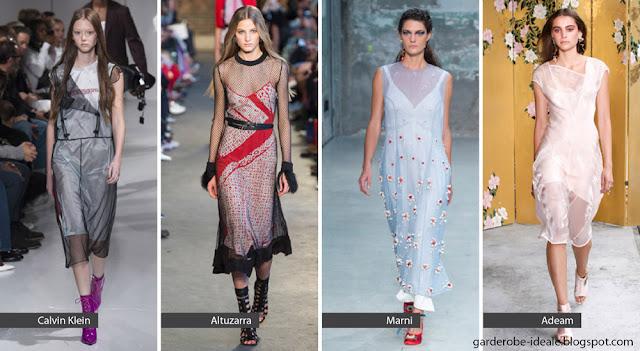 Прозрачные платья с платьями на подиуме весна-лето 2018