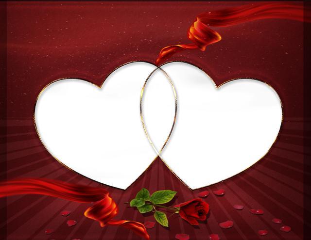 Lindo marco digital para enamorados