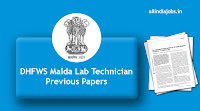 DHFWS Malda Lab Technician Previous Papers