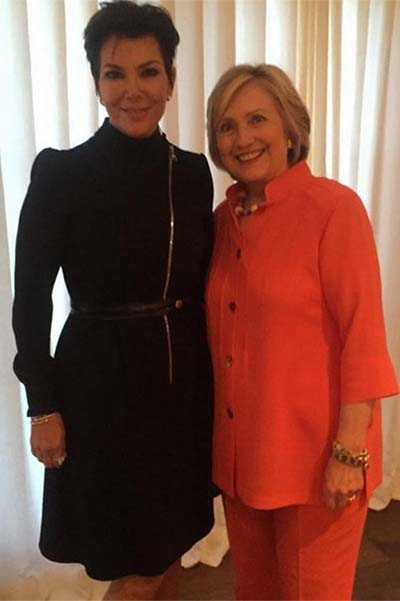Chris Jenner and Hillary Clinton