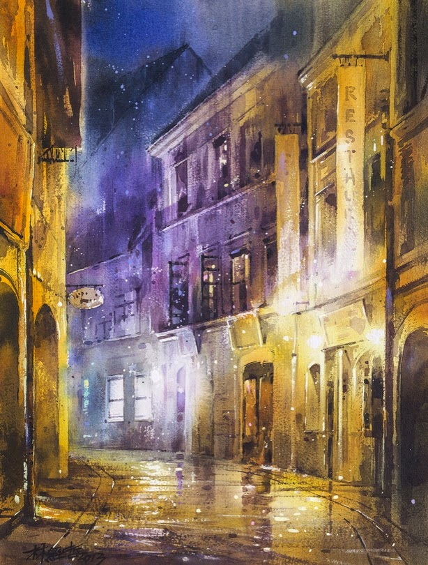 10-Lin Ching-Che 林經哲-Dreamlike-Watercolor-Paintings-in-the-City-www-designstack-co