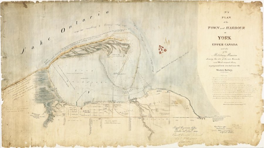 1833 Bonnycastle No.1 Plan of the Town and Harbour of York