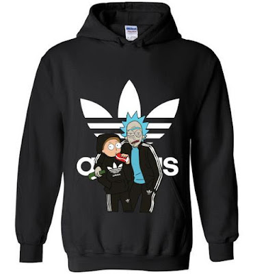 rick and morty adidas hoodie, rick and morty adidas sweater, rick and morty adidas sweatshirt