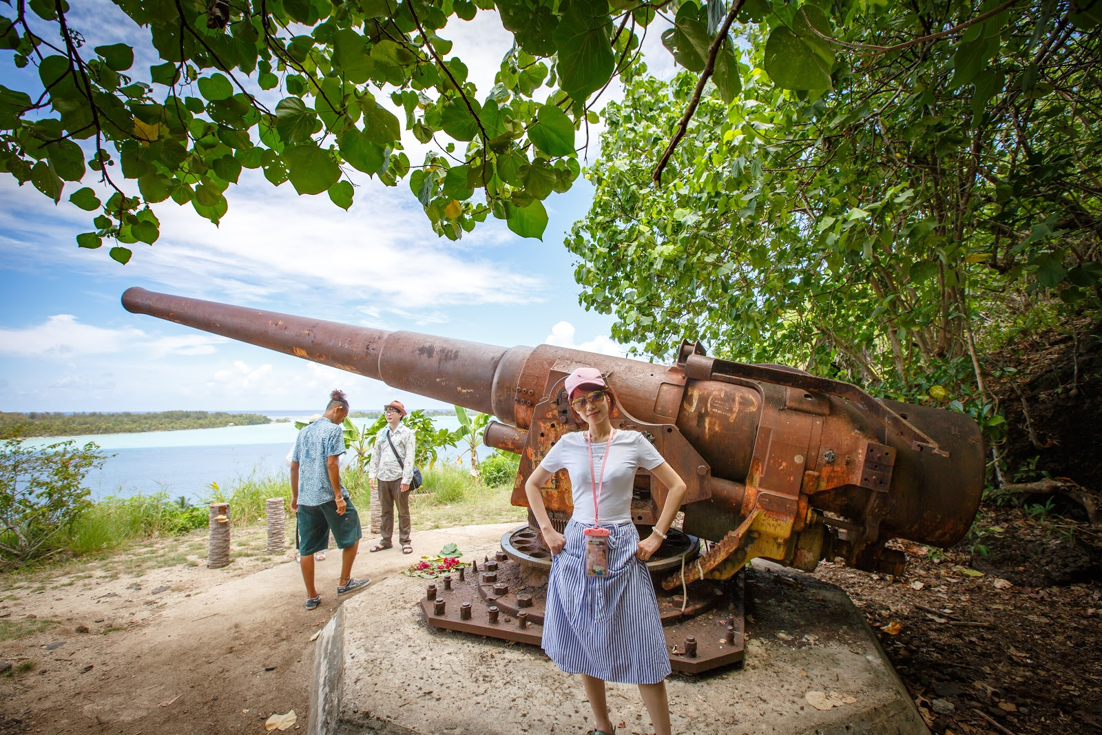 二戰期間美國在Bora Bora設置的大砲