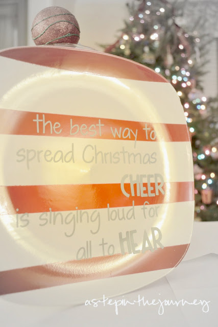 Dollar Tree Christmas Plate