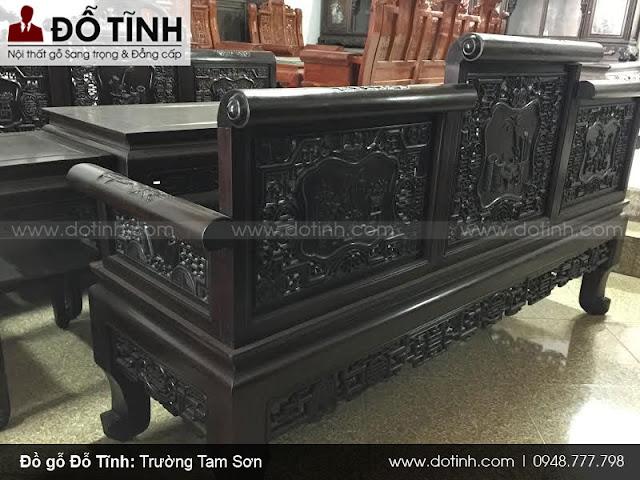 Trường kỷ Tam Sơn đục tay 38tr600 - Bộ trường kỷ cổ đẹp nhất 2017