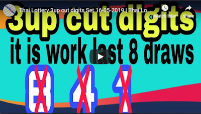 Thai Lottery 3up cut digits Set open direct number 16 May 2019
